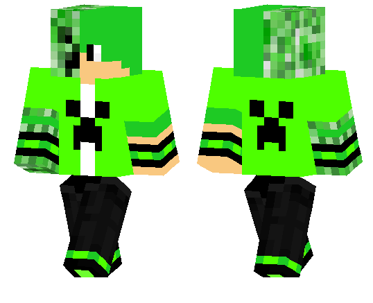 Скин Jr Creeper для Майнкрафт ПЕ